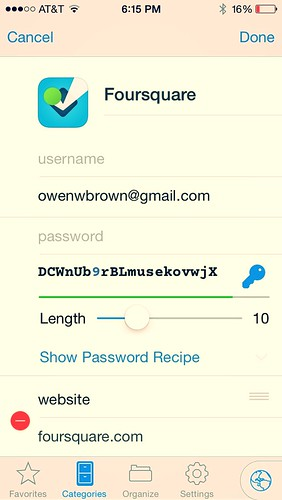 Editing Password for Account | by owenwbrown
