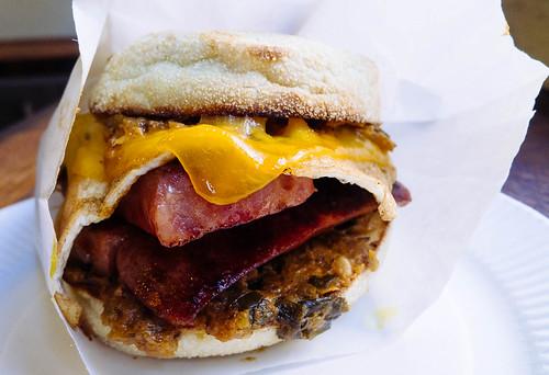 NOLA breakfast sandwich at Wheelhouse Boston   by Hybernaut