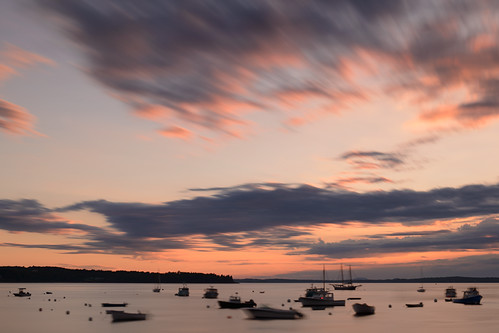 byscottphotos nikon nikkor d800 2470mmf28 2470mm lincolnville harbor maine me newengland camden sunrise sunset lobster lobsterboats usa us longexposure