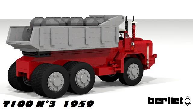 BERLIET T100 N°3 - VUE ARRIRE