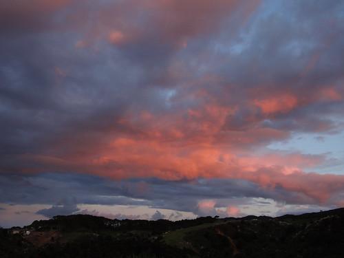 sunset new zealand nouvellezélande clouds sky