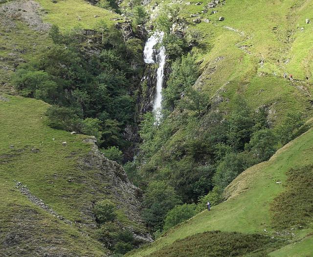 Cautley Spout, Howgill Fells near Sedbergh, Yorkshire Dales National Park, Cumbria, UK