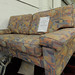 2 Seater mixed fabric sofa