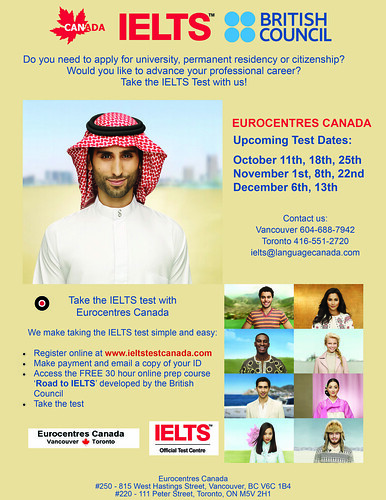 IELTS in Eurocentres Canada