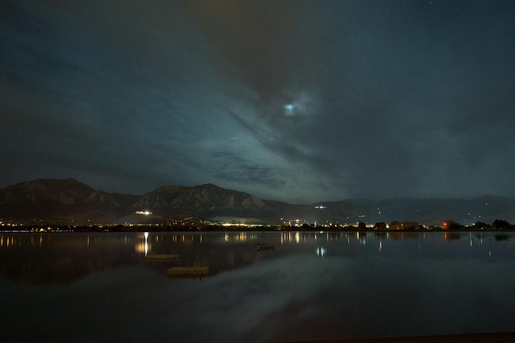Full Moon over Boulder, Post-Eclipse