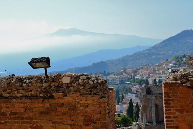 L'Etna au dessus de Taormina