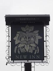New Inn - 2-3 Market Place - Terrace Road, Buxton - pub sign