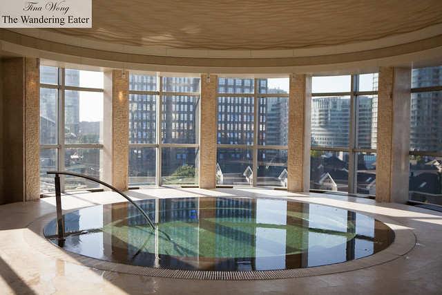 The swimming pool with views of Beijing