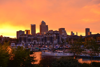 """The great """"fire"""" of London at Canary Wharf   by Winniepix"""