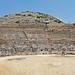 Greece, Macedonia, visitors at Philippi ancient theatre