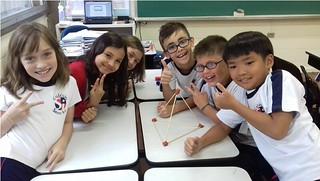 Aula de Matemática: pirâmide - 3º ano B (abr/2017)