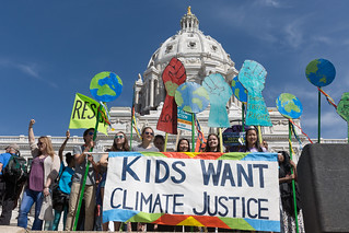 Kids Want Climate Justice, Minnesota March For Science, St Paul | by Lorie Shaull