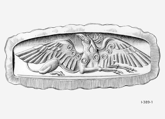 Griffin - Seal drawing after CMS I 389 Acharnä