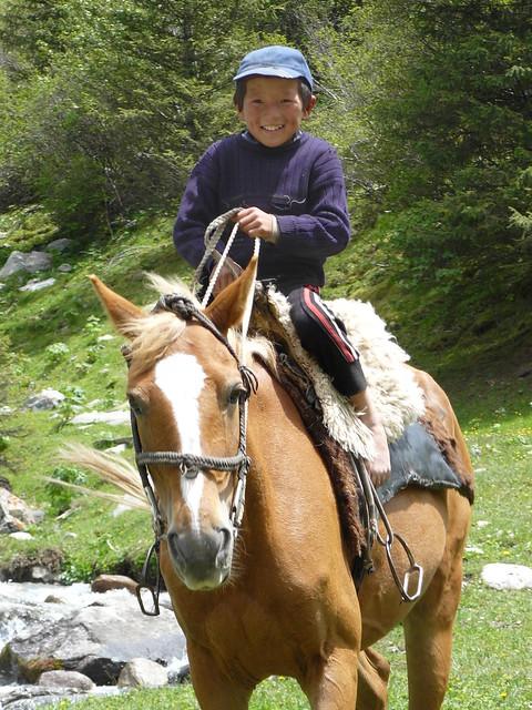 Kyrgyz kid, ridding