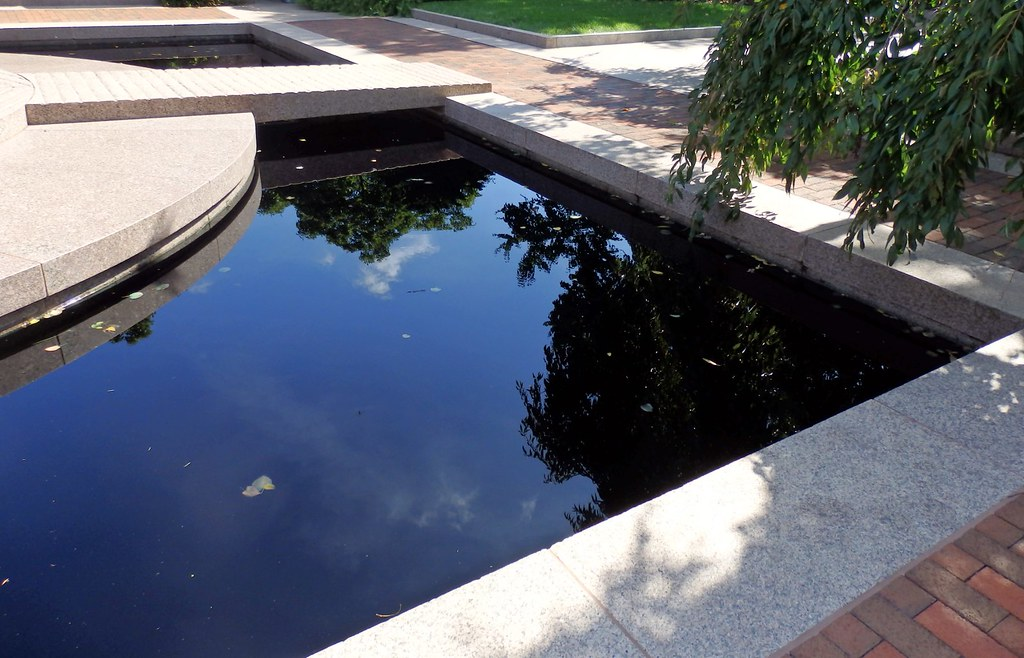 Pool in the Moongate Garden, National Mall