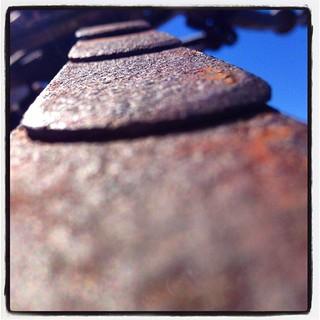 Leaf springs left behind. #airstreamdc2cali #california #vintage #rustporn