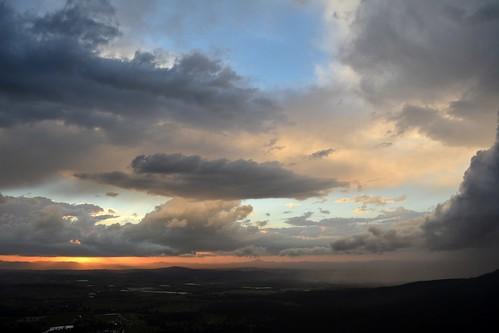sky sunset sunsetclouds storms thunderstorm departingstorm tamborinemountain albertvalley bluesky sunlightthroughclouds sundown sequeensland queensland australia weather australianweather mounttamborine