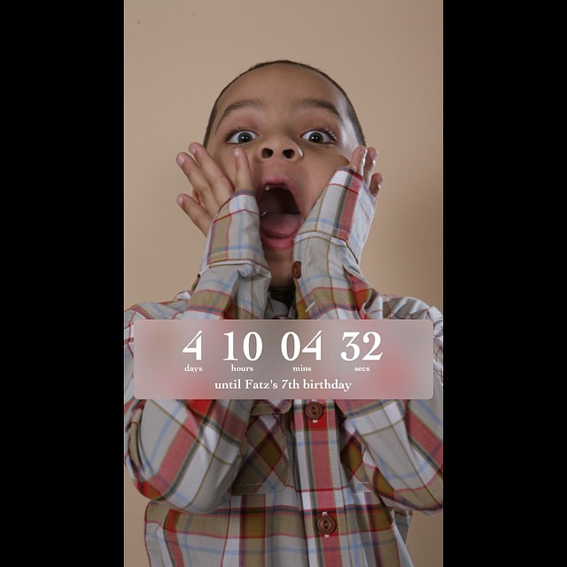 4 Days 10 Hours 04 Mins 32 Secs Until My 7th Birthday #Fat