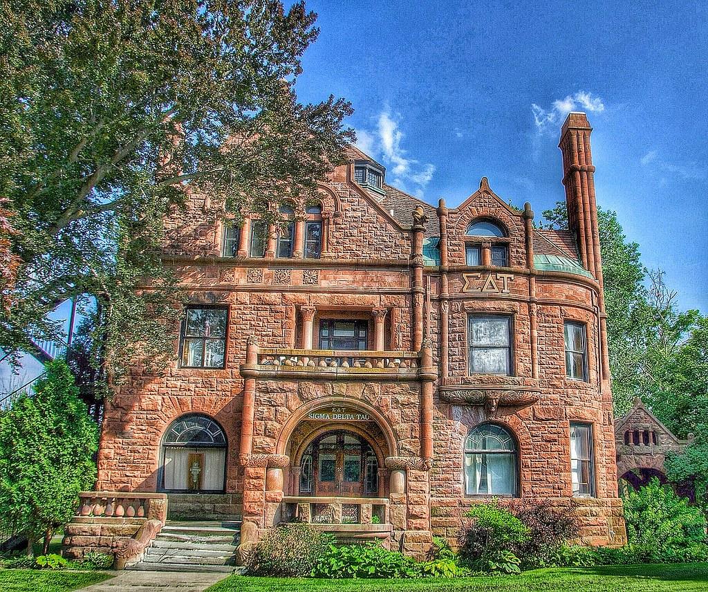 Cortland Ny ~ SIGMA DELTA TAU SOROTITY HOUSE ~ Historic Ma
