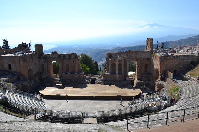 Le théâtre antique de Taormine, Sicile.