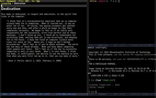 SICP in Emacs
