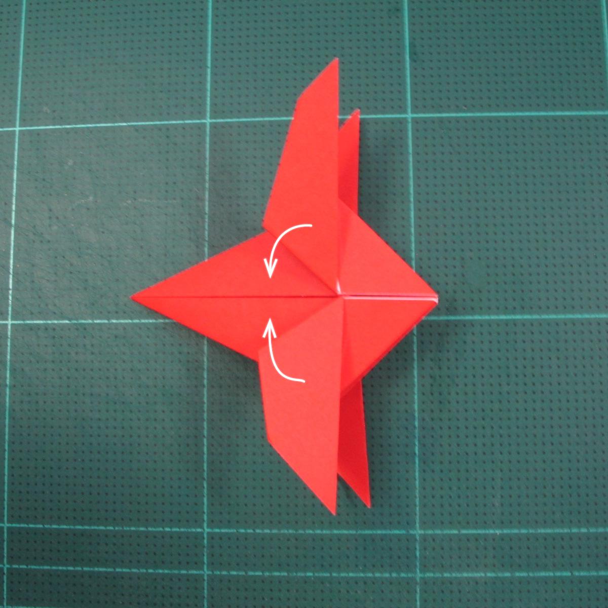 วิธีพับกระดาษเป็นรูปแมลงปอ (Origami Dragonfly) 015