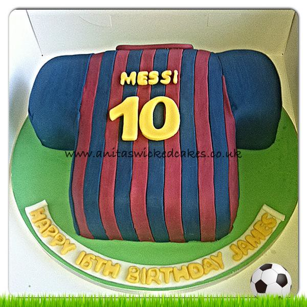 3acfc84df ... Barcelona football shirt cake