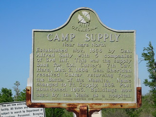 Camp Supply Historic Marker