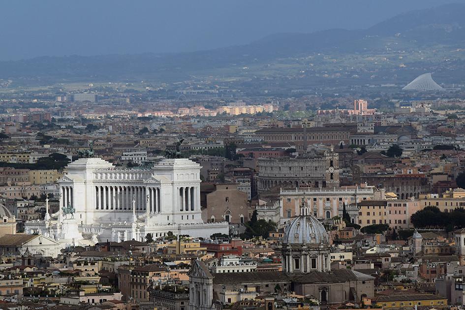 Altare Della Patria View From Terrazza Del Gianicolo Flickr