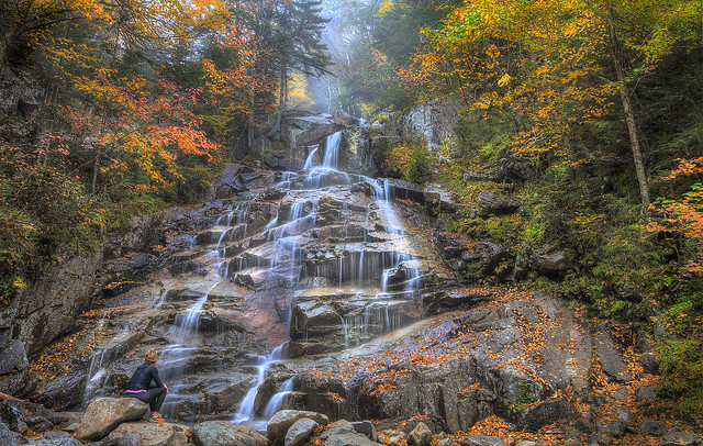 Melissa at Cloudland Falls (Explored)