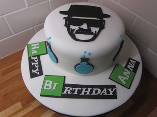 Groovy Breaking Bad Birthday Cake Lajlascakes Blogspot Co Uk Flickr Funny Birthday Cards Online Overcheapnameinfo