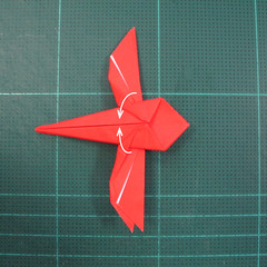 วิธีพับกระดาษเป็นรูปแมลงปอ (Origami Dragonfly) 020