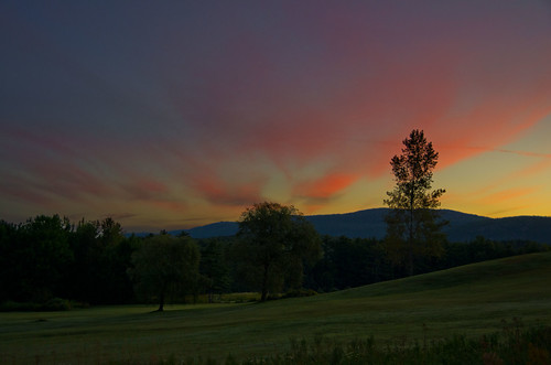 sky clouds sunrise maine golfcourse rockport