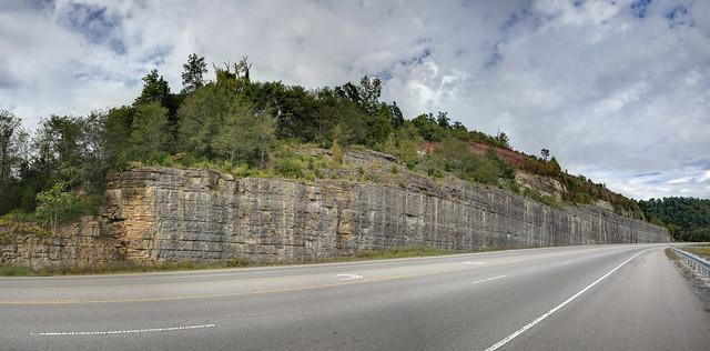 Sidehill cut, Highway 70, Dekalb County, Tennessee 1