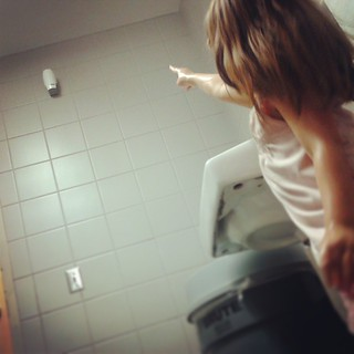 I though that was the soap way up there.  #shortpeopleproblems #petite #kidstagram #izzy | by ACME-Nollmeyer