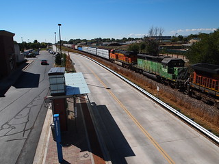 BNSF Train Passing the Spring Creek Station