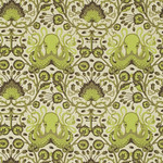 Part of Tula Pink's 'Salt Water' collection, in the 'seaweed' colorway. This design was called 'Octo Garden.'