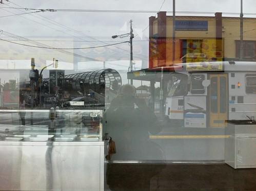 emptyshops iphone lofi lowrez mophone phonecam fauxdoubleexposure tram rain footscray pc3011 auspctagged3011 auspctaggedpc3011 footscraypc3011 selfy reflection refelctions wet ground rainy rainyday 2012 iphone4 trove australiainpictures troveaus unfound art