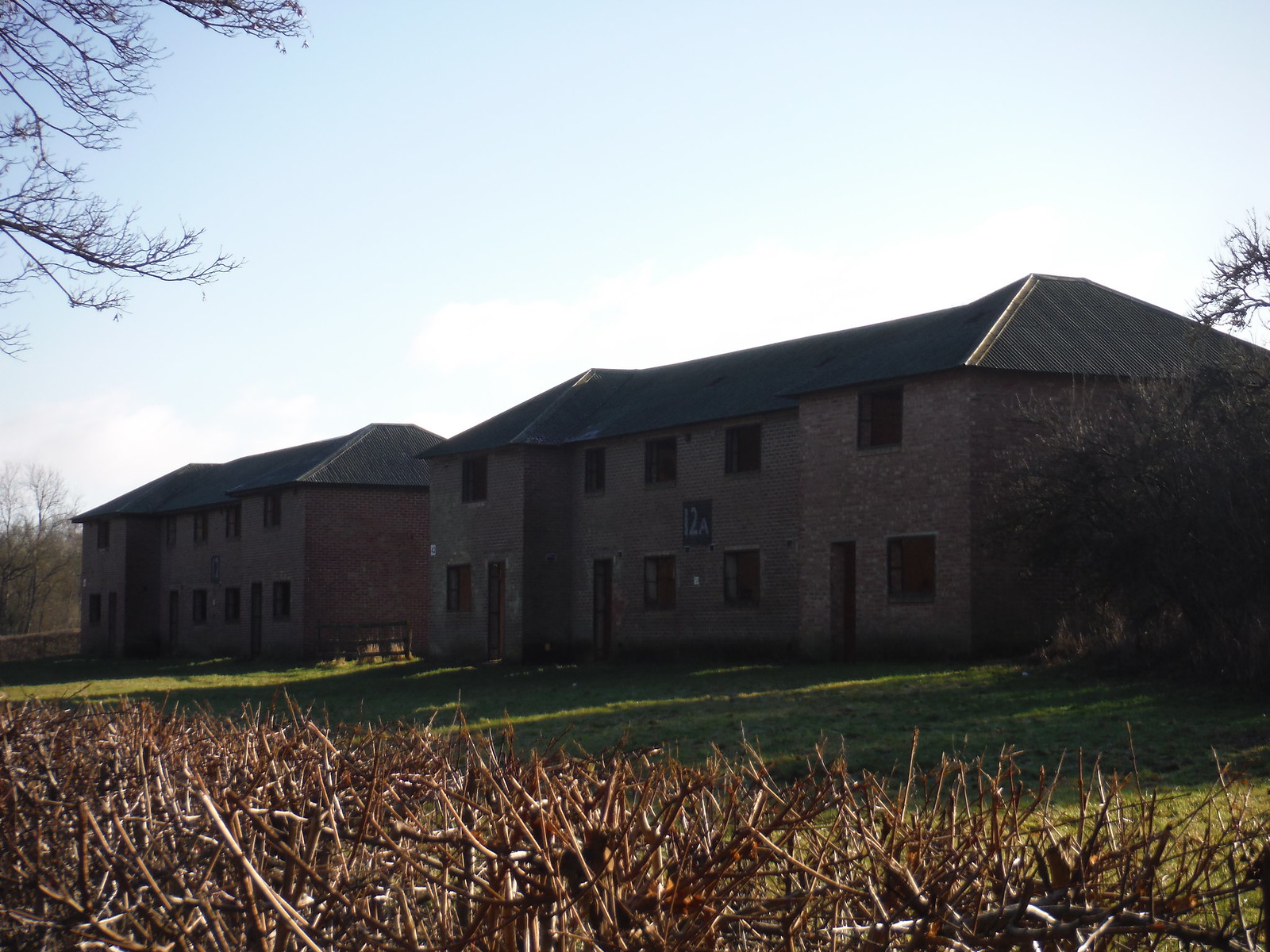Imber Village, empty 'Council Houses' now used for combat training SWC Walk 286 Westbury to Warminster (via Imber Range)
