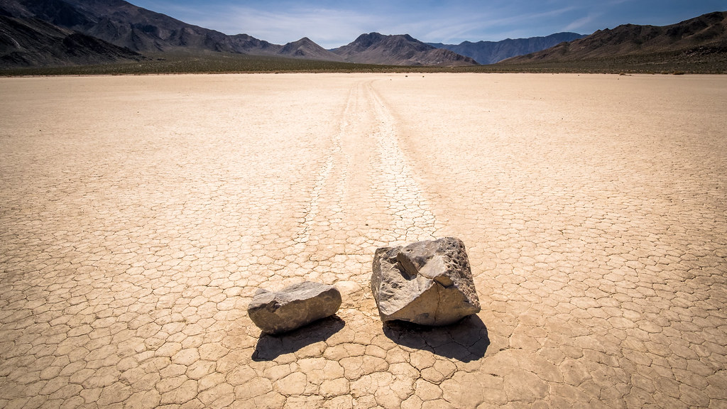 Moving stones in Racetrack - Death Valley, United States -… | Flickr