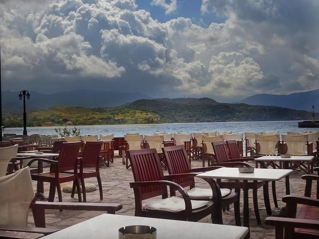 Coffee time..cafeteria Aigaion..Molyvos village..Lesvos Greece