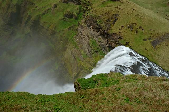 60-метровый водопад Скоугафосс. Исландия