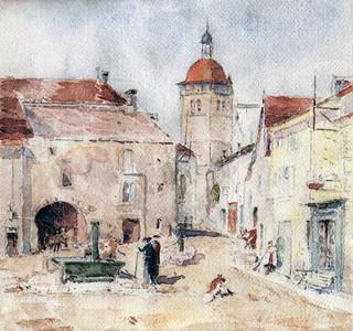 La rue des prêtres à Orgelet