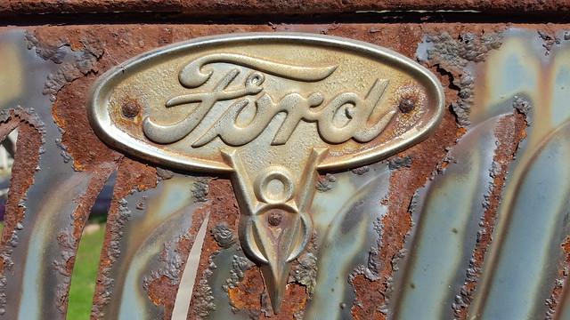 '35 Ford pickup truck hood badge