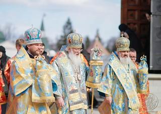 Литургия в Иверском монастыре 675