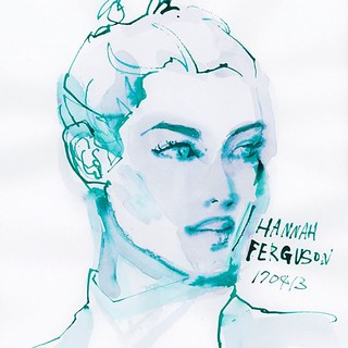 Drawing no.170413-01 @hannahfergusonofficial #hannahferguson #watercolor #illustration #illustrator #drawing #fashion #fashionillustrationsketch #fashionista #fashionillustrations #fashionillustrator #Japan #tokyoillustrator #beauty #beautyillustration | by loopool