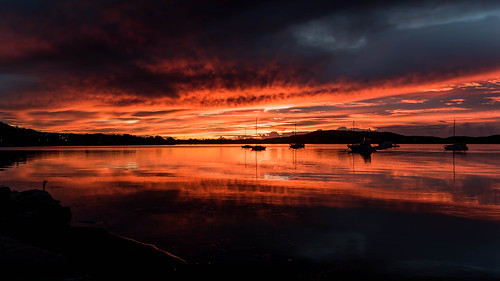 color nature water beauty boats background newsouthwales red nsw brisbanewater scenic sky view dream sunrise australia tascott weather clouds koolewong scene scenery beautiful travel orange light landscape bay waterscape dawn coast coastal centralcoast reflections
