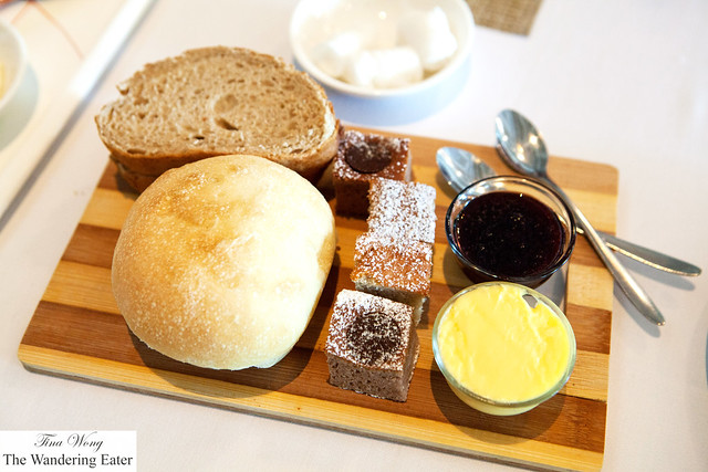Bread and pastries board