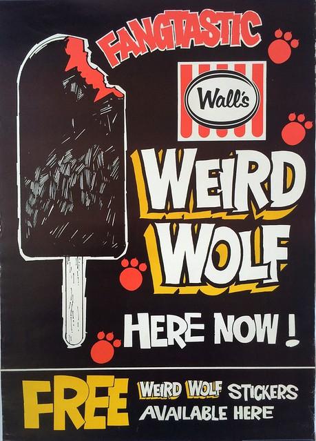 1970s Weird Wolf Ice Block Poster