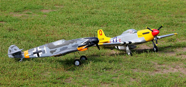 Parkzone Bf109-G6 & Dynam P51-D - RC Model Warbirds